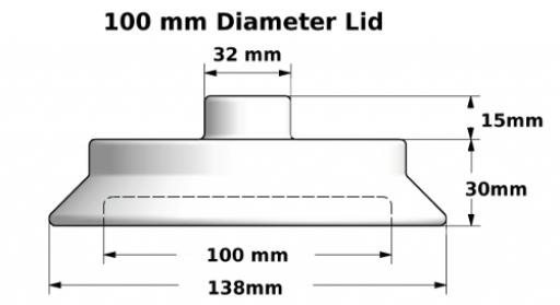 100mm Lid