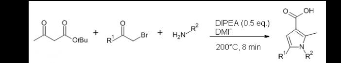 Hantzsch synthesis of pyrrole-3-carboxylic acid