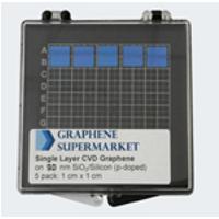 Zestaw 5 sztuk: Grafen na 90 nm waflu SiO2